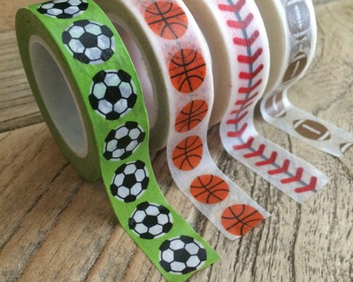 Sports washi tape at Craft Warehouse