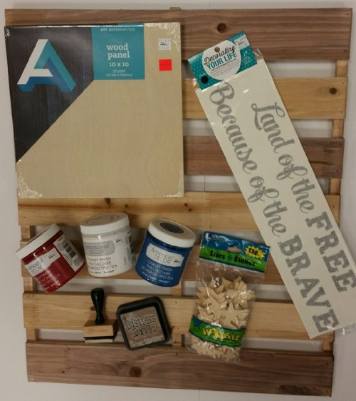 wood pallet board decoart chalky paint
