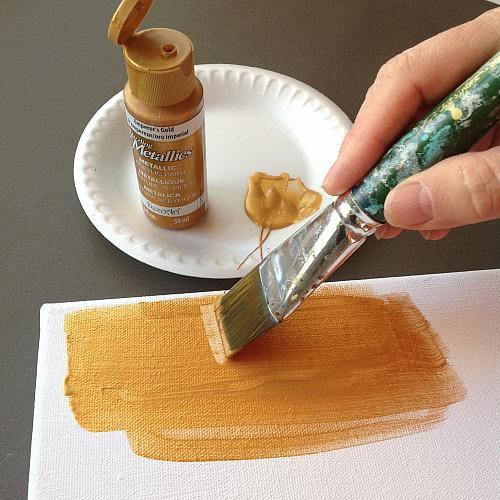 Using Dazzling Metallics Paint