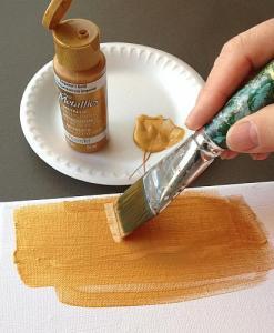Using Dazzling Metallics Paint