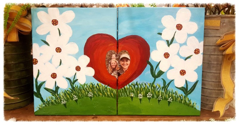 Mommy and Me Canvas Painting