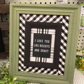 framed wall art made with gingham farm