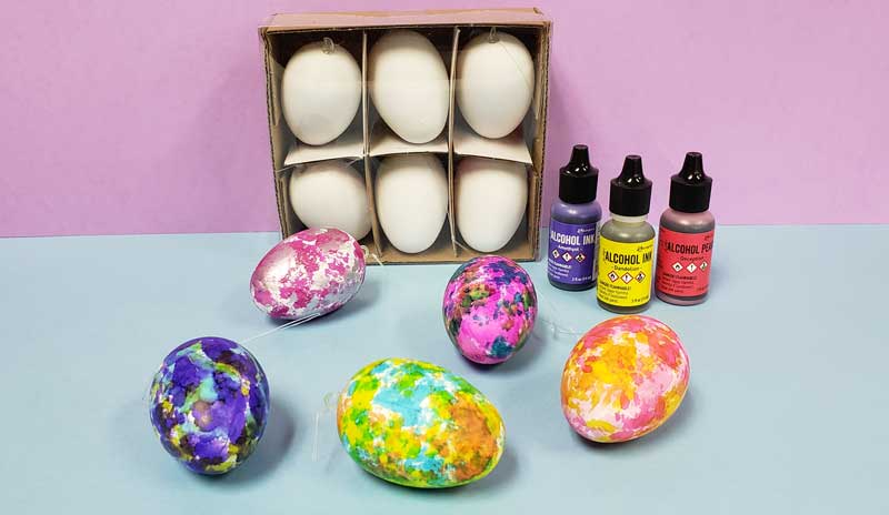 Alcohol Ink Egg Decorating