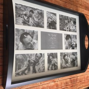 Black DIY Photo Tray Gift to Make - Craft Warehouse