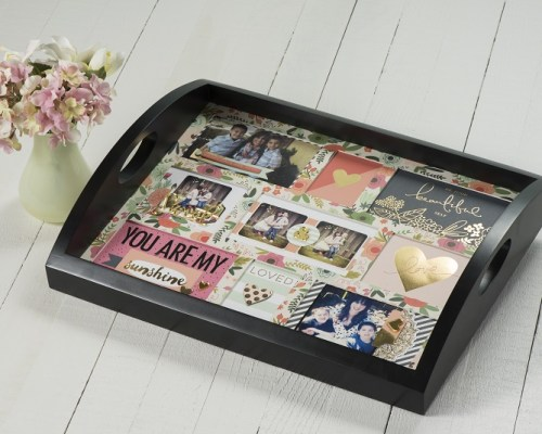 Black Photo Tray