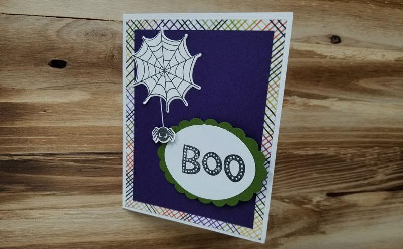 """Spider """"Boo"""" Card Make & Take"""