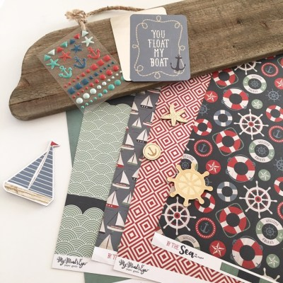 My Minds Eye by the sea paper collection