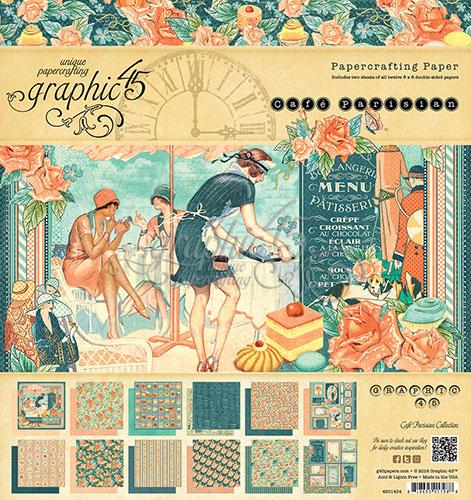 Graphic 45 Parisian Cafe Paper Pads