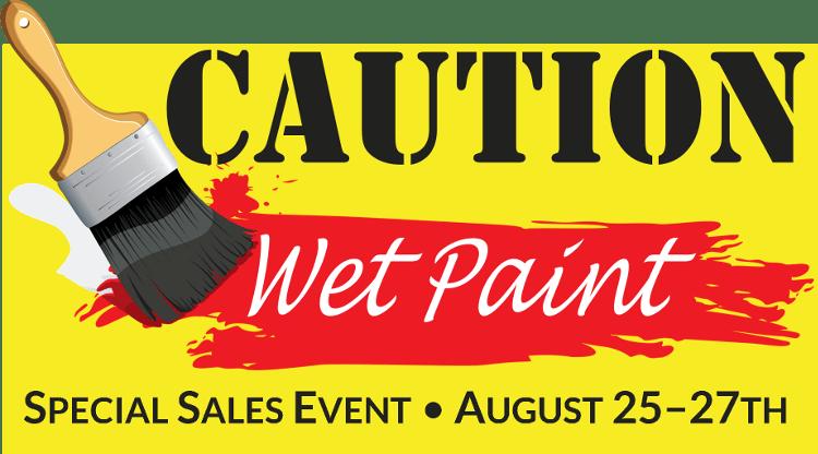 CAUTION: WET PAINT! Sales Event @ Craft Warehouse @ Gresham Station | Gresham | Oregon | United States