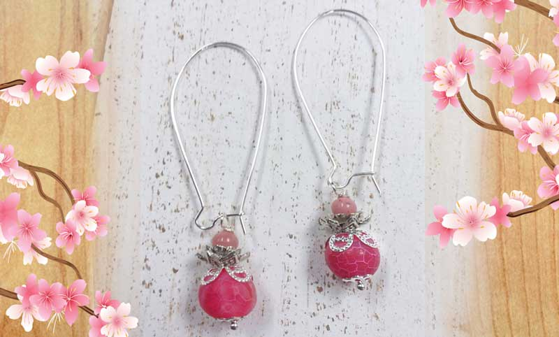 Peach Blossom Earrings