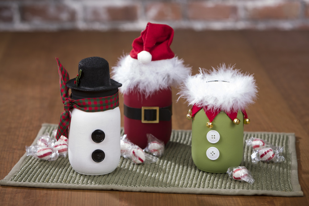 Santa Snowman And Elf Chalky Paint Mason Jars Craft Warehouse