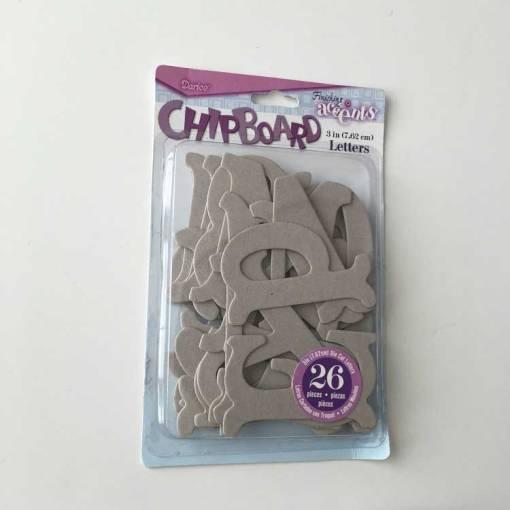"darice 3"" chipboard letters"
