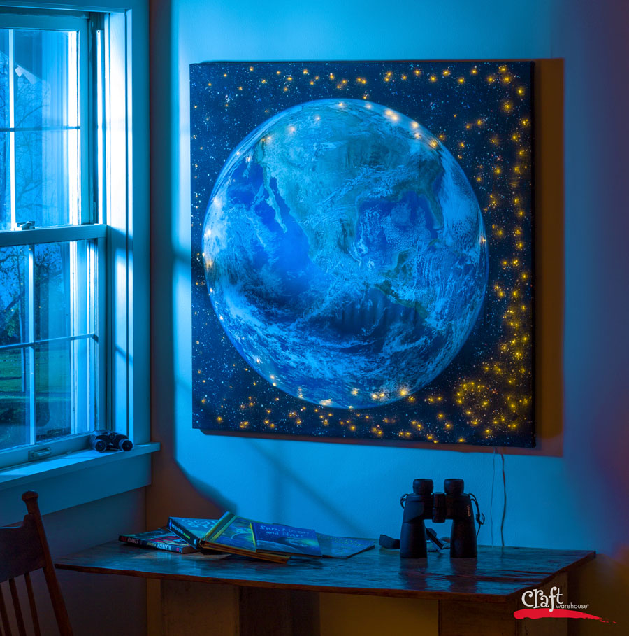 Make your own Light Up Canvas with Digital Print Fabric