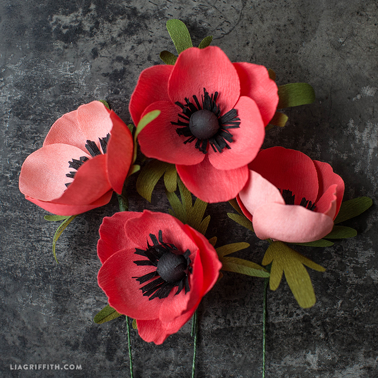 How to Make Crepe Paper Anemone