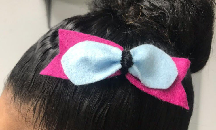 Felted Bow Barrette Make and Take