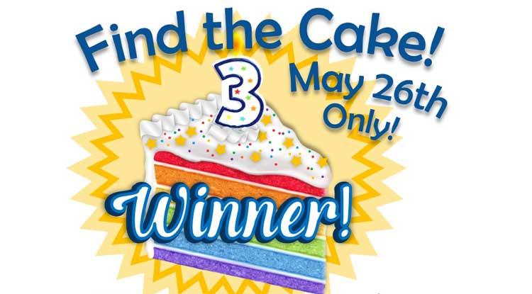 Find the Cake - Anniversary Event @ Beaverton Location | Beaverton | Oregon | United States