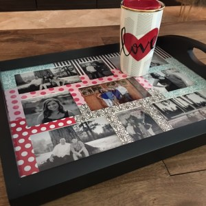 Frame shop black valentines photo tray