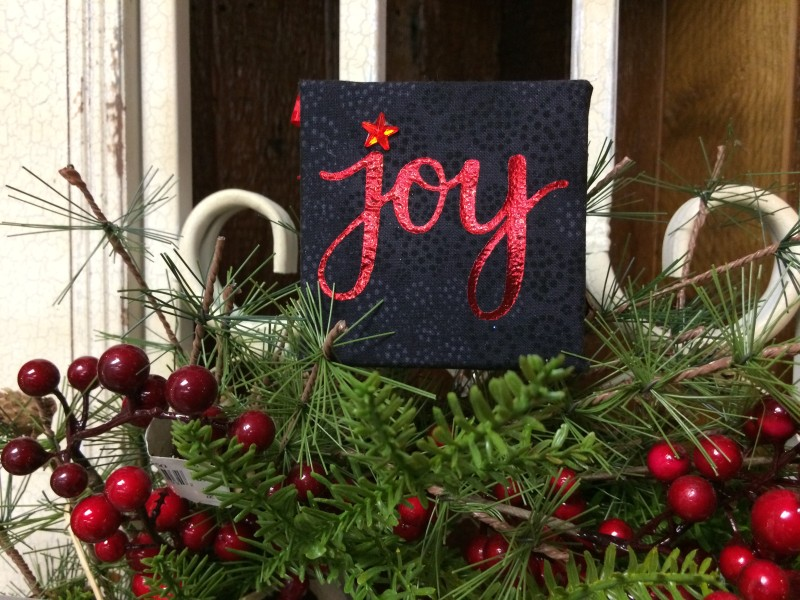 "Heidi Swapp Minc Foil ""Joy"" Fabric Canvas"