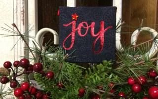 "Heidi Swapp Minc Foil ""Joy"" Fabric Canvas"