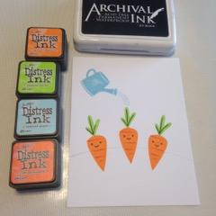 Lawn Fawn Carrot stamp ranger tin holtz distress ink