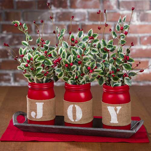 Make a Joy Red Mason Jars Tablescape