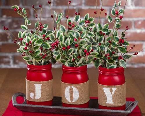 Make a Joy Red Mason Jars Tablescape