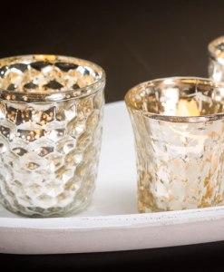 Metallic Votive Holders