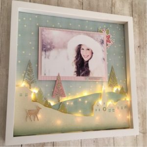 My Minds Eye Scrapbook Christmas Winter Sugar Plum shadow box