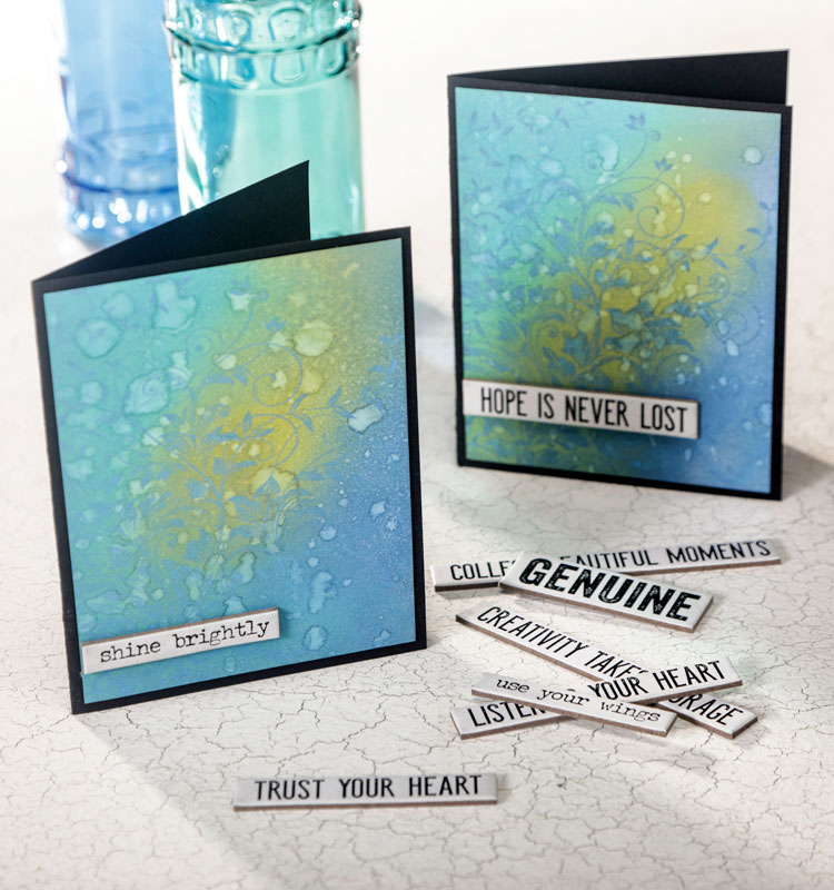 Make & Take - Oxide Inked and Stamped Background Card @ All Locations
