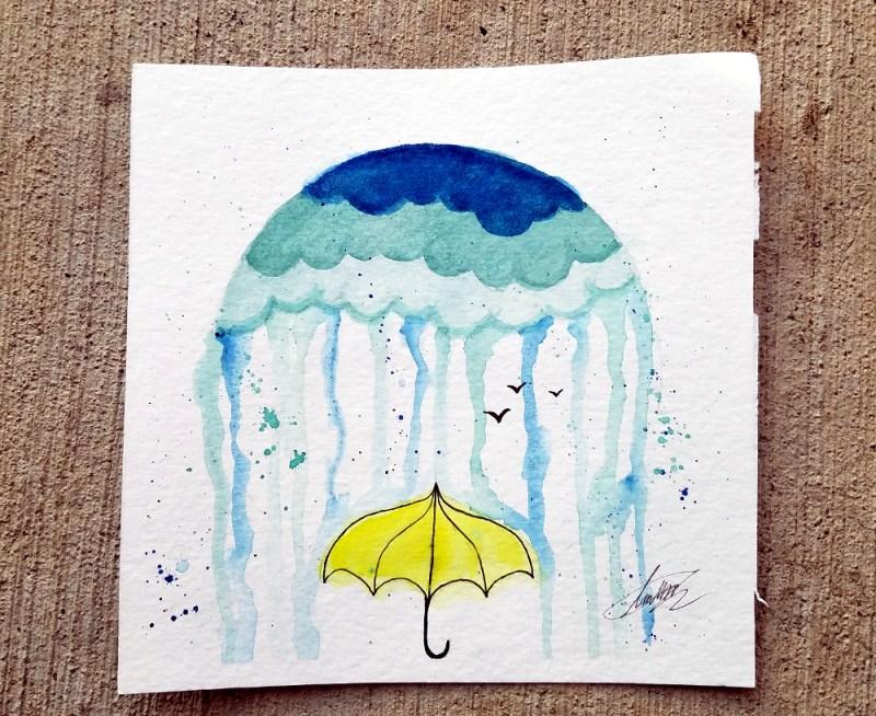 Paint Night: April Showers @ Craft Warehouse @ Gresham Station | Gresham | Oregon | United States