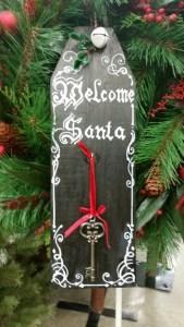 Santa Key chalkboard tag marvy bistro markers chalkboard paint