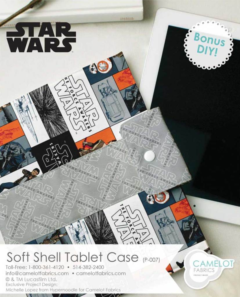 Star Wars Fabric Tablet Ipad Case by Camelot