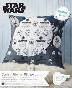 Star Wars color block pillow pattern