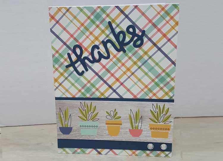 """Succulent """"Thanks"""" Card @ Vancouver Location 