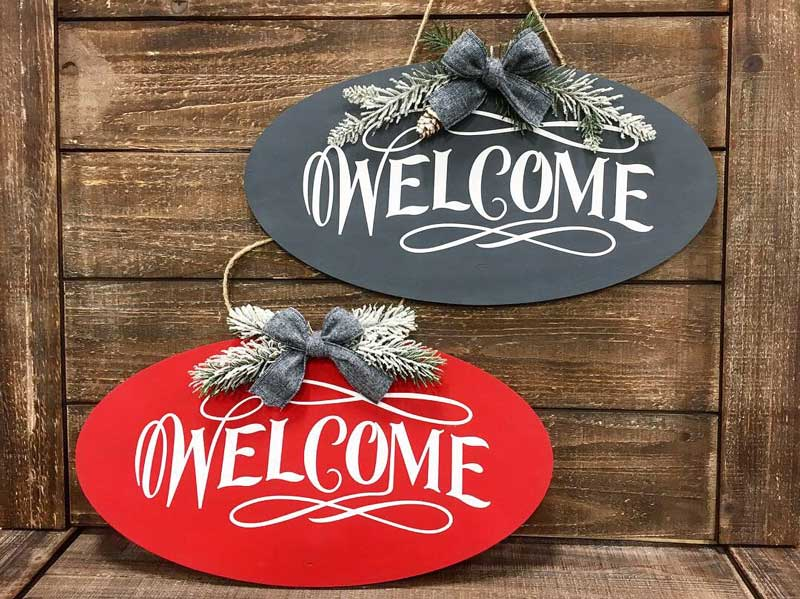 Wild Wednesday: Winter Welcome Sign @ Hazel Dell Location | Vancouver | Washington | United States