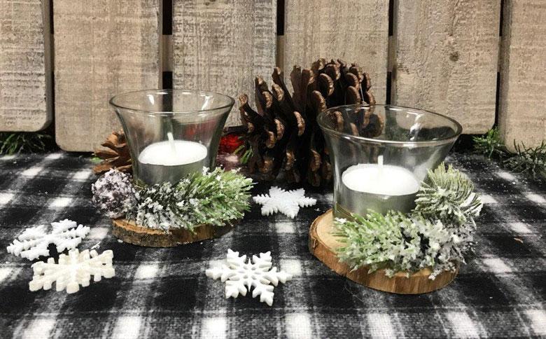 Winter Wonderland Tealight Candle Holder