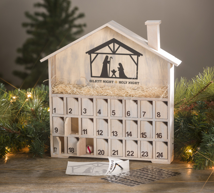 Wood Advent Diy Calendar Craft Warehouse