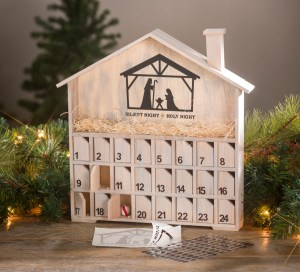 wood advent calendar christmas countdown