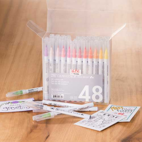 Zig Real Brush Clean Color Pen Sets