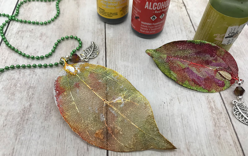 Happy Hour: Alcohol Ink Leaf Necklace @ Vancouver Location | Vancouver | Washington | United States