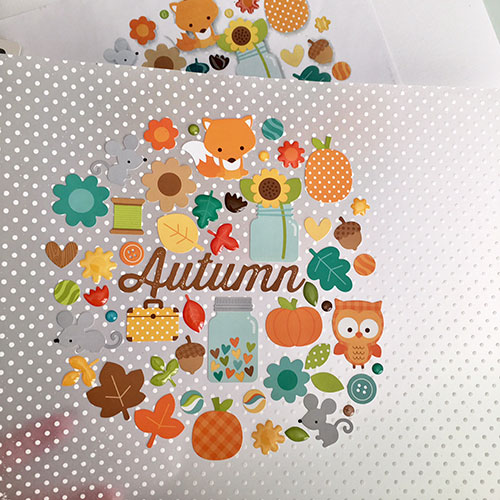 Place Vellum over template and lay out stickers
