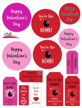 Print out Bath Bomb Valentine Tags