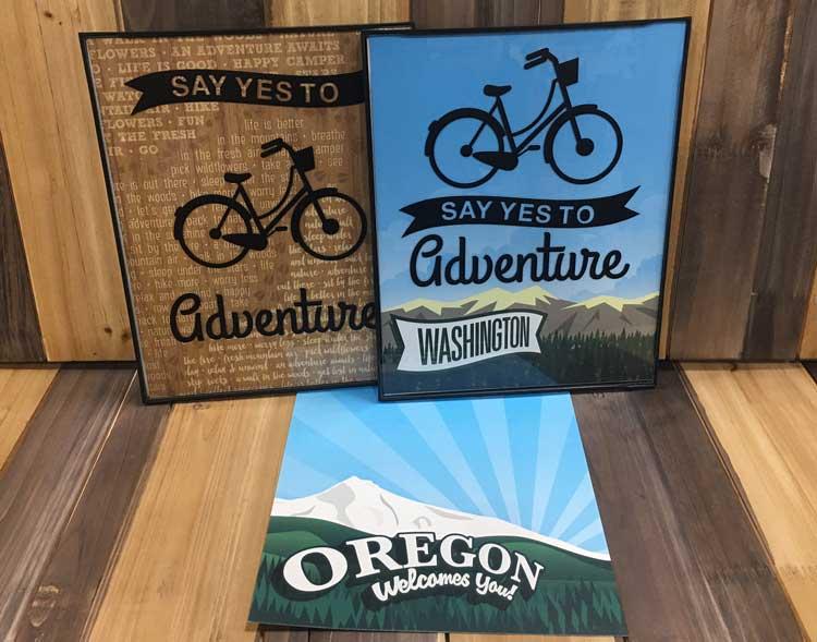 Bike Adventure Wall Art @ Hazel Dell Location   Vancouver   Washington   United States