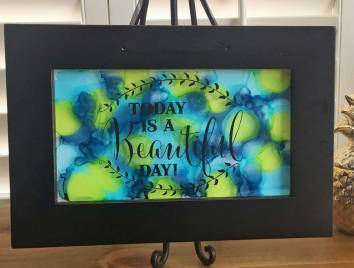 Beautiful Day Wall with Art Alcohol Ink from Craft Warehouse
