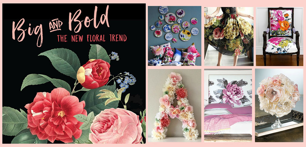 The Big Floral Trend in Crafts, Paper and Quilting