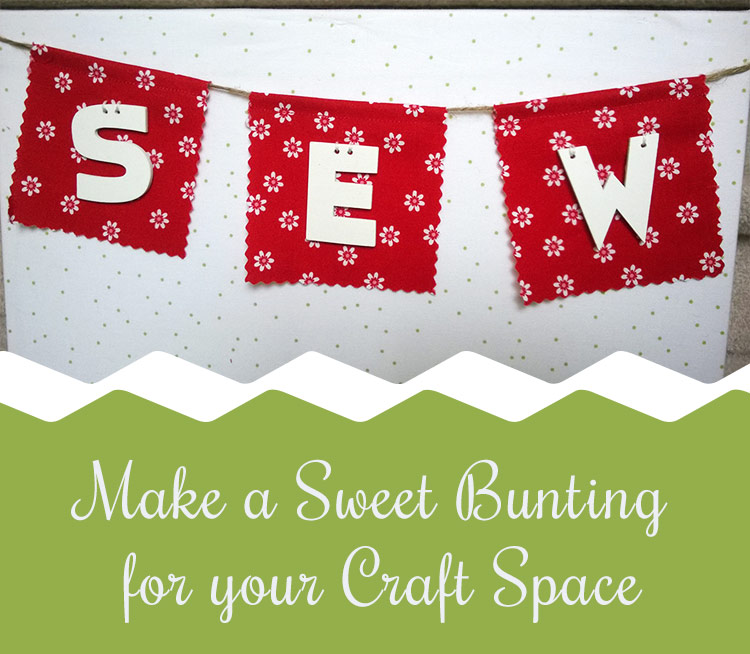 Make a Bunting for an organizer board with Craft Warehouse