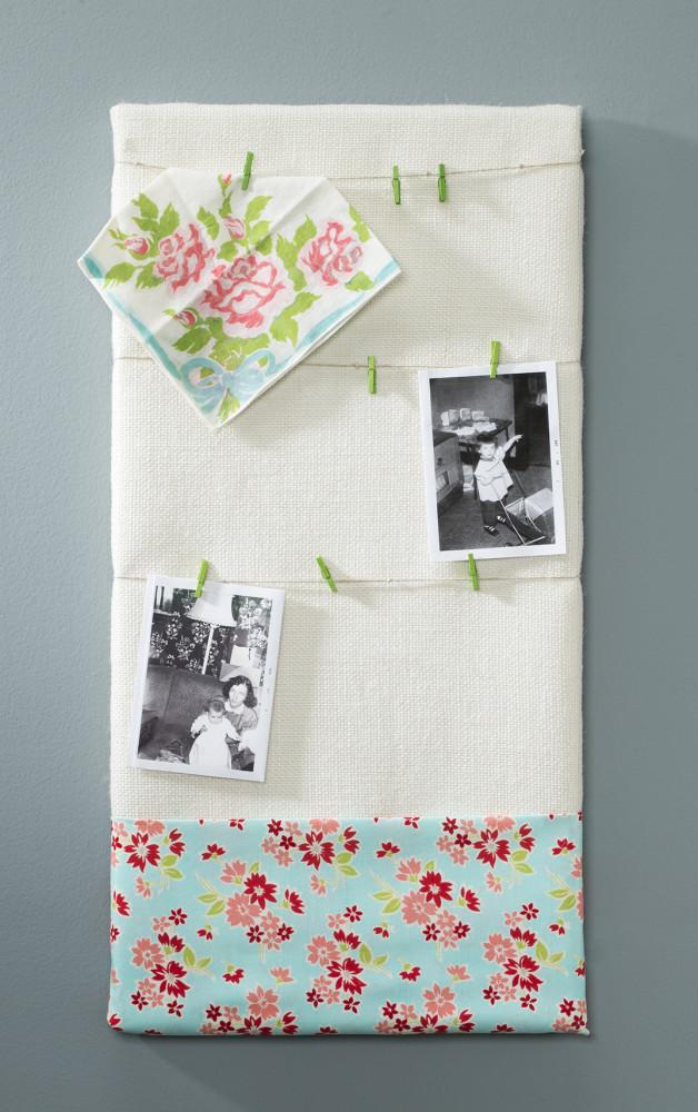 Burlap fabric canvas photo holder