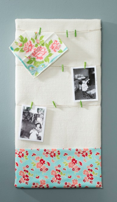 Burlap fabric canvas photo holder