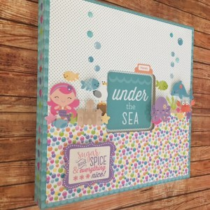 doodle bug under the sea nursary girls frame