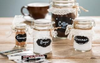 ceramic snap jars chalkboard lables organize